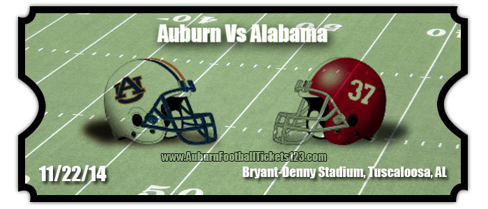 Auburn tigers vs alabama crimson tide football tickets nov 29 2014